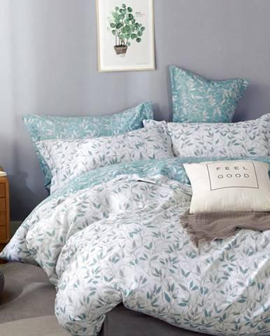 Bavlnená  saténová  posteľná  bielizeň  Albs-01129b/2  140x200