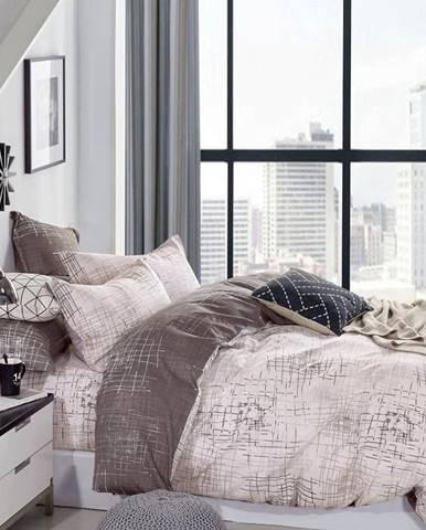 Bavlnená  saténová  posteľná  bielizeň  Albs-01130b/2  140x200