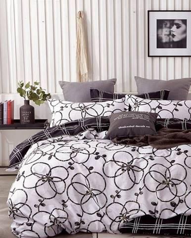 Bavlnená  saténová  posteľná  bielizeň  Albs-01136b/2  140x200