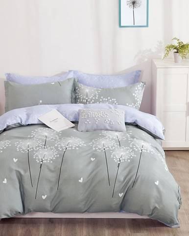 Bavlnená saténová posteľná bielizeň ALBS-01190B/3 160x200