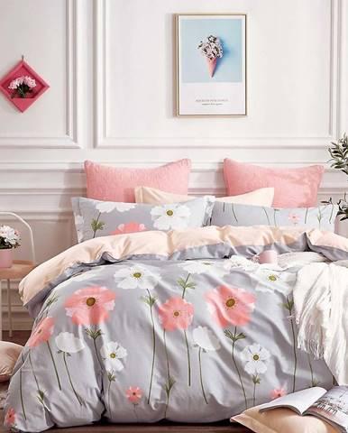 Bavlnená sátenová posteľná bielizeň ALBS-0989B/2 140x200