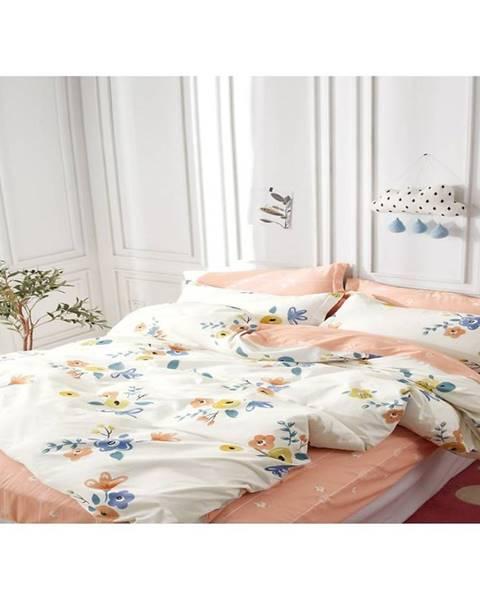 MERKURY MARKET Bavlnená saténová posteľná bielizeň albs-01060b/2 140x200 lasher