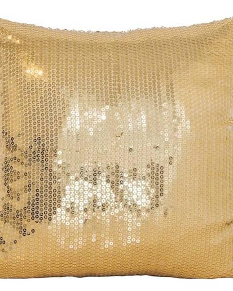 MERKURY MARKET Obliečka na vankúš WS1735 40x40 zlatý