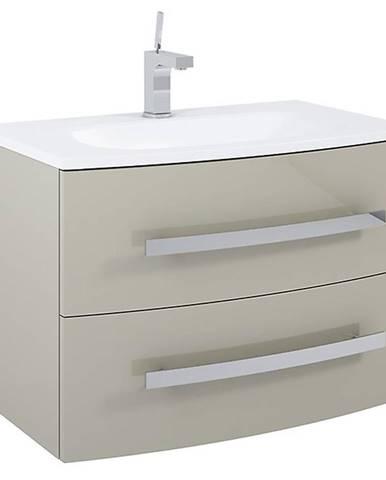 Kúpeľňová skrinka pod umývadlo Perla 80 2S cappucino
