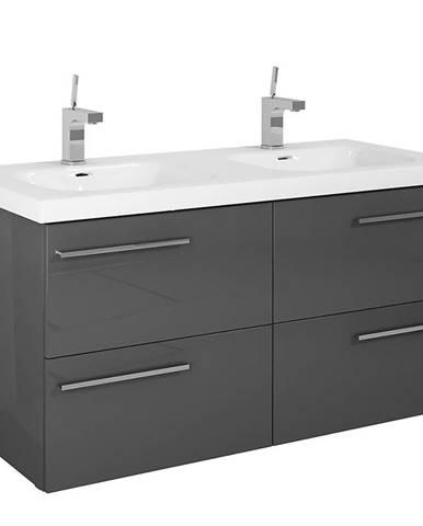 Kúpeľňová skrinka pod umývadlo Royal 120 4S anthracite DSM