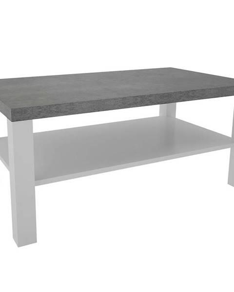 MERKURY MARKET Konferenčný stolík Olaf XII biely/beton