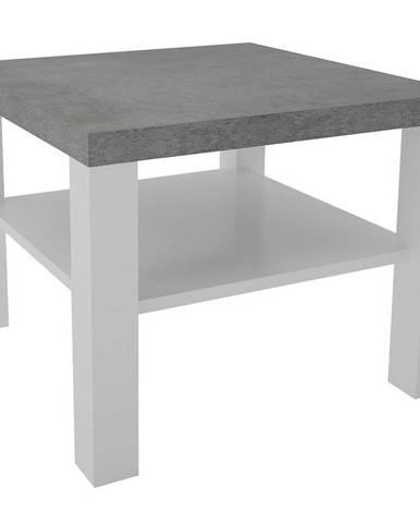 Konferenčný stolík Olaf VIII biely/beton