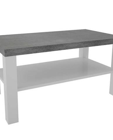 Konferenčný stolík Olaf XI biely/beton
