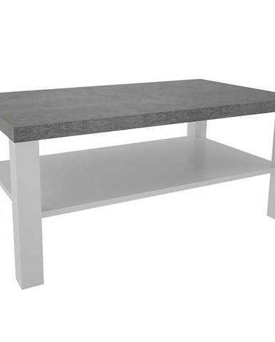Konferenčný stolík Olaf XII biely/beton