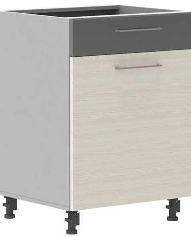 Skrinka do kuchyne Next D60S/1 L bielená jedľa Douglas/antracit lesk