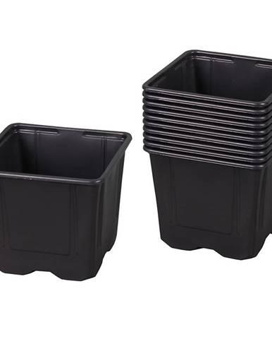 Kvetináč V plastový čierny 9x9x8cm; 10ks