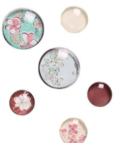 Magnet s kvetmi 6 ks mix ab-magn-kvety