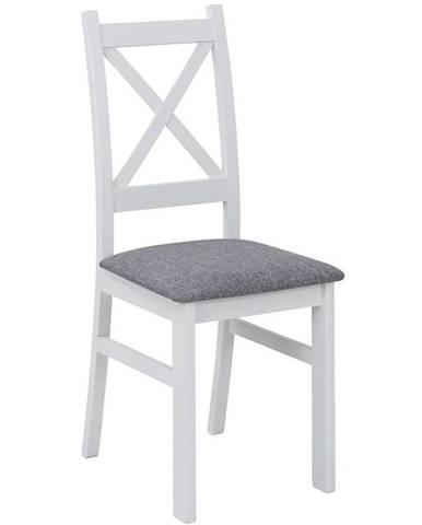 Stolička Alina biela/sivá
