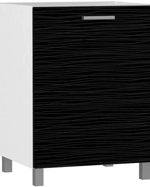 MERKURY MARKET Skrinka do kuchyne Megan Black Hologram Line D60 L  BB