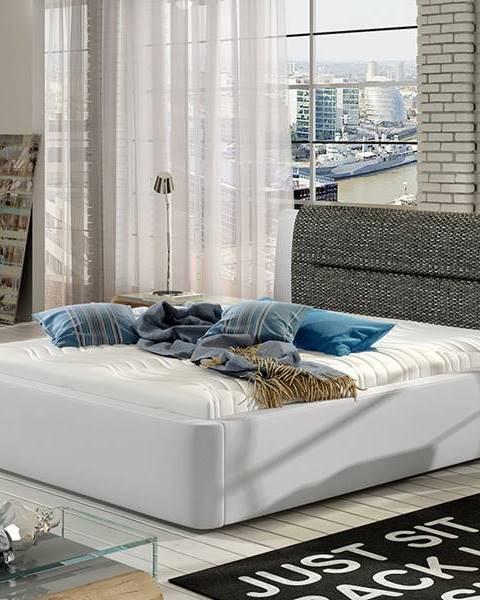 NABBI Portima 160 čalúnená manželská posteľ biela (Soft 17)