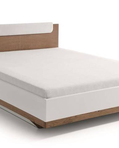 Como CM-1 140 manželská posteľ biely vysoký lesk