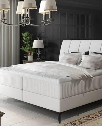 Altama 160 čalúnená manželská posteľ s úložným priestorom biela