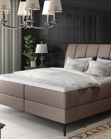 Altama 160 čalúnená manželská posteľ s úložným priestorom svetlohnedá