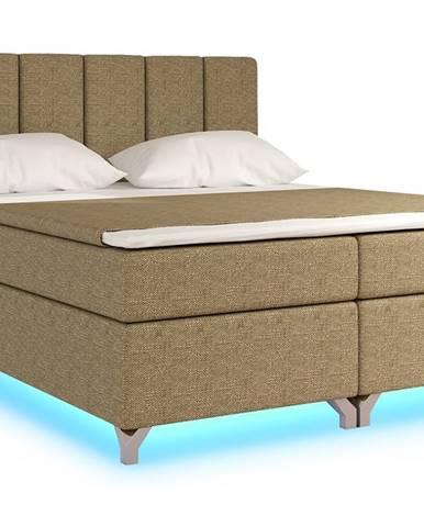 Barino 180 čalúnená manželská posteľ s úložným priestorom cappuccino