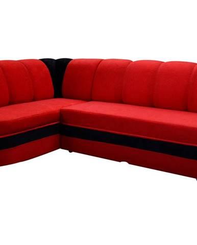 Belluno L rohová sedačka s rozkladom a úložným priestorom červená