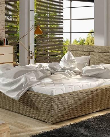 Branco 140 čalúnená manželská posteľ s roštom cappuccino