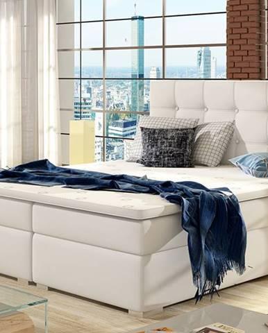 Isola 160 čalúnená manželská posteľ biela
