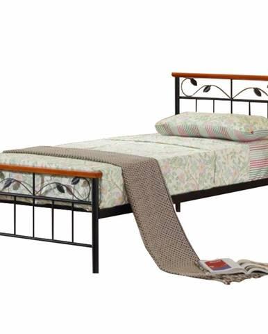 Morena 90 kovová jednolôžková posteľ s roštom čierna