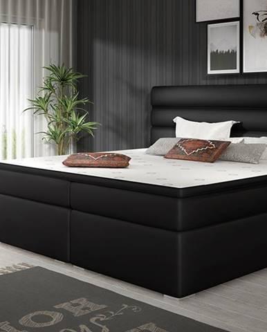 Spezia 160 čalúnená manželská posteľ s úložným priestorom čierna (Soft 11)