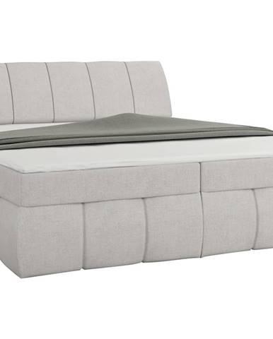 Vareso 180 čalúnená manželská posteľ s úložným priestorom svetlosivá (Orinoco 21)