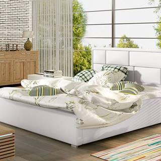 Liza UP 200 čalúnená manželská posteľ s roštom biela