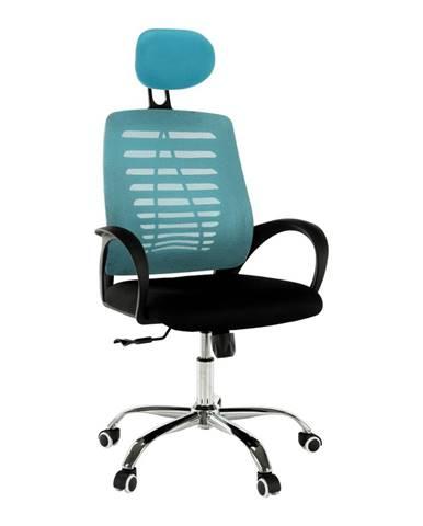 Elmas kancelárske kreslo s podrúčkami modrá