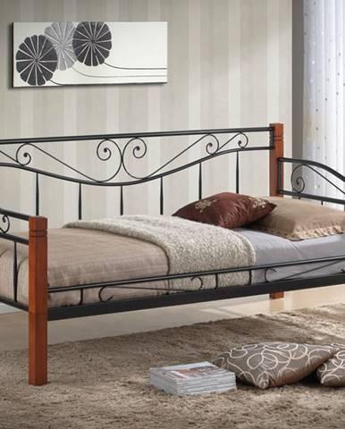 Kenia 90 kovová jednolôžková posteľ s roštom čierna