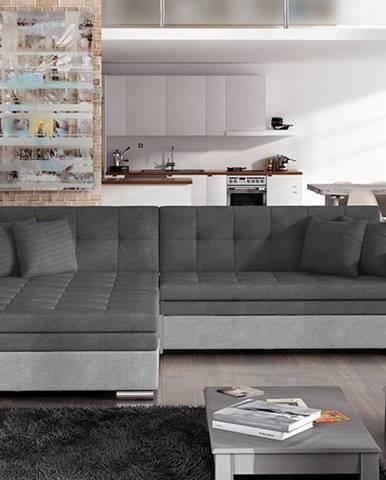 Salerno L rohová sedačka s rozkladom sivá