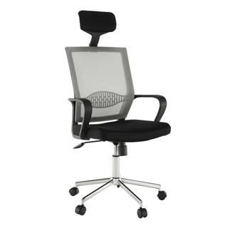 Dakin kancelárske kreslo s podrúčkami svetlosivá