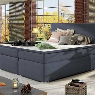 Diana 140 čalúnená manželská posteľ s úložným priestorom modrá