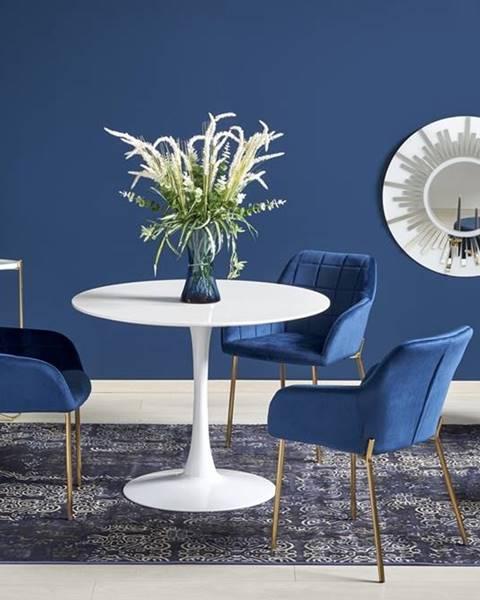 Halmar Slim okrúhly jedálenský stôl biela
