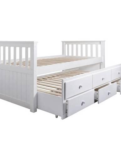 Austin New jednolôžková posteľ s prístelkou biela