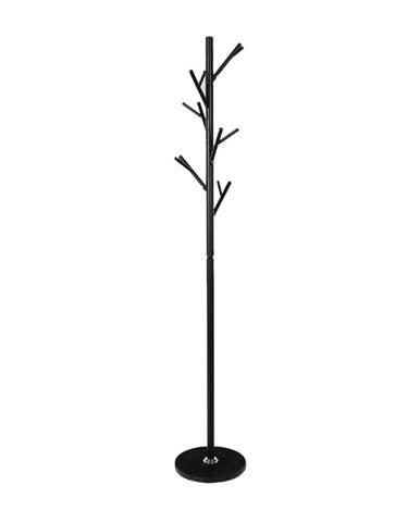 Efran kovový vešiak čierna
