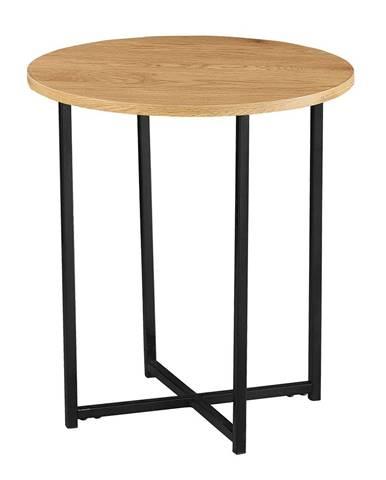 Imsar okrúhly príručný stolík dub