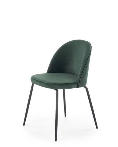 K314 jedálenská stolička tmavozelená