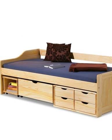 Maxima 2 90 drevená jednolôžková posteľ s roštom borovica