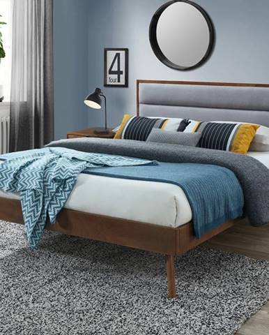 Orlando 160 manželská posteľ s roštom orech