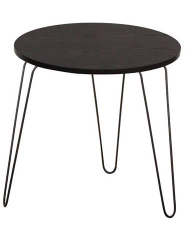 Ronin príručný stolík čierny dub