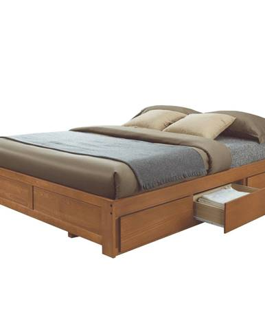Sirus manželská posteľ s roštom dub