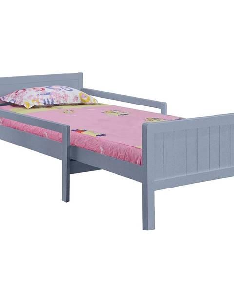 Kondela Eunika jednolôžková posteľ s nastaviteľnou dĺžkou sivá