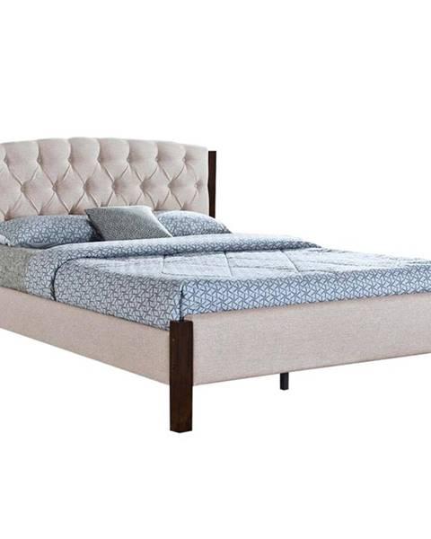 Tempo Kondela Elena New manželská posteľ s roštom piesková