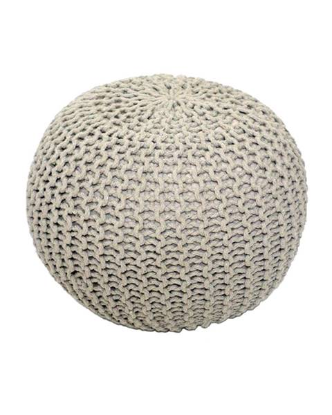 Kondela Gobi Typ 1 pletená taburetka krémová