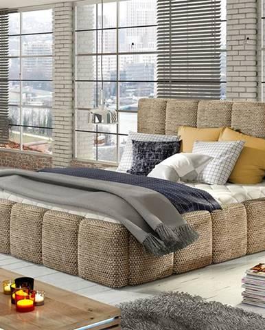 Evora 140 čalúnená manželská posteľ cappuccino