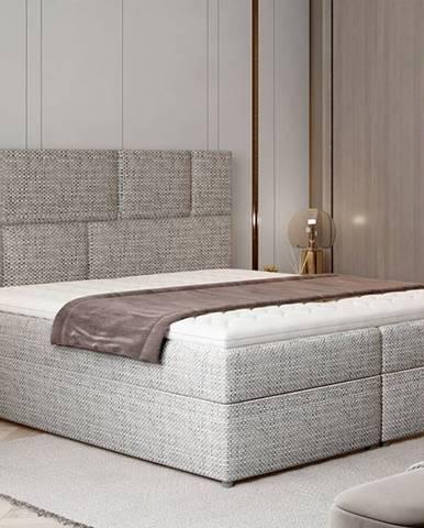 Ferine 165 čalúnená manželská posteľ s úložným priestorom sivá (Berlin 01)