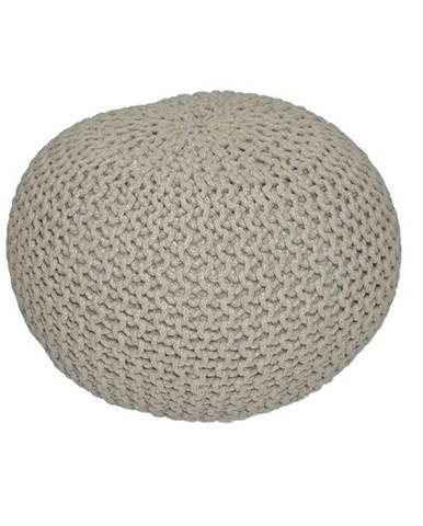 Gobi Typ 2 pletená taburetka hnedosivá